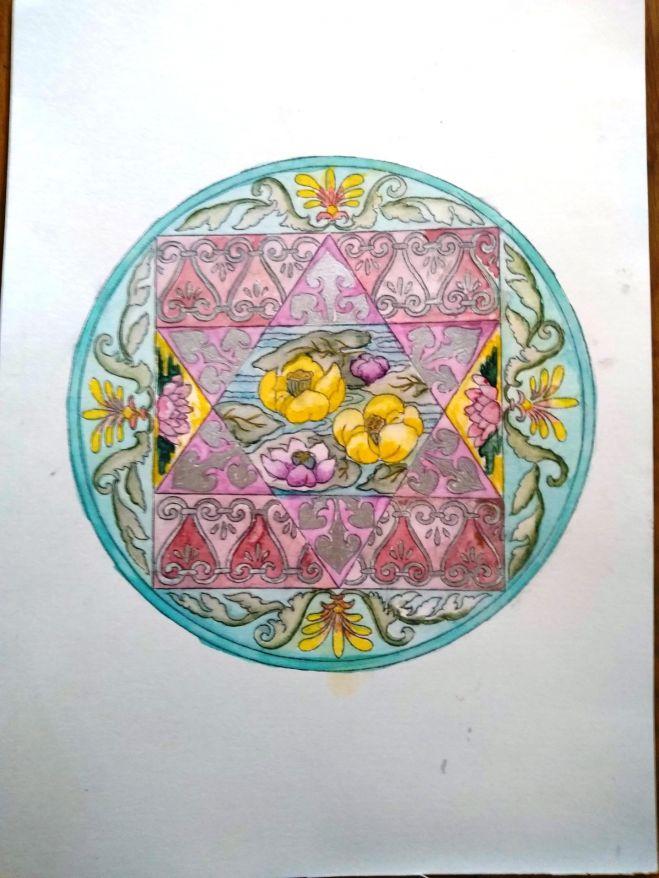 満月願いを叶える曼荼羅塗り絵ワーク コピー 2018年9月25日東京都